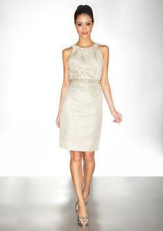CARMEN MARC BY CARMEN MARC VALVO Sleeveless Jeweled Detail Dress - @ideeli