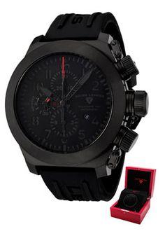 Swiss Legend 1101-bb-01-w Men's Militare No1 Automatic Chronograph Black Rubber Watch