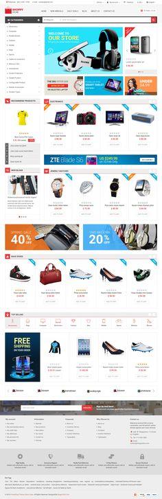 Shoppy Store is Premium full Responsive Retina #PrestaShop #eCommerce Theme. #Bootstrap 3 Framework. Mega Menu. Google Fonts. Test free demo at: http://www.responsivemiracle.com/cms/shoppy-store-premium-responsive-prestashop-theme/