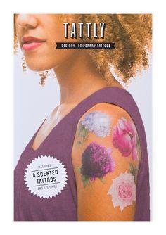 Tattly™ Designy Temporary Tattoos. — Pink Peony (Scented)