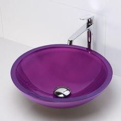 DecoLav Translucence Round 19mm Glass Vessel Bathroom Sink