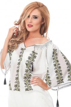 Folk Embroidery, Floral Tops, Ruffle Blouse, Tunic Tops, Costumes, Traditional, Handmade, Beautiful, Clothes