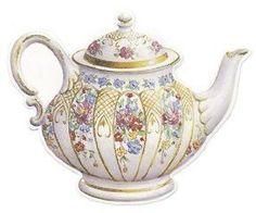Gold Floral Tea Pot