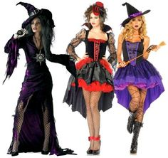 """""""Dark and Scary"""" sexy costumes with high low hems"""