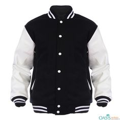 size 40 ab84c b9ac9 DOMINIC BLACK AND WHITE JACKET Coat Sale, Custom Varsity Jackets, Varsity  Letterman Jackets,
