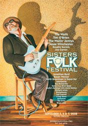 Art and Music: Award-winning illustrations, graphic design, and songwriting out of Sisters, Oregon. Cd Design, Graphic Design, Folk Festival, Festival Posters, Over The Years, Blues, Sisters, Guitar, Artists