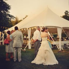 Wedding Tent with banners