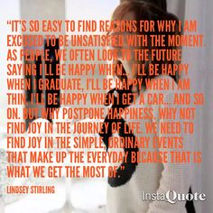 Lindsey Stirling quote made by Drina Christensen