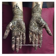 Just completed henna design for Shalu Singh. Henna with style and… Wedding Mehndi Designs, Mehndi Design Pictures, Mehndi Art Designs, Latest Mehndi Designs, Simple Mehndi Designs, Mehndi Images, Henna Tattoo Designs, Dubai Mehendi Designs, Heena Design