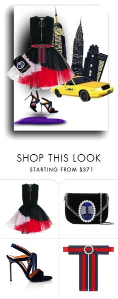 """""""01-04-18     15:18"""" by oligs022 ❤ liked on Polyvore featuring FAUSTO PUGLISI, STELLA McCARTNEY, Walter De Silva and Gucci"""