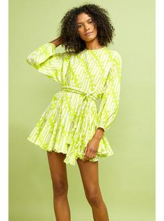 RHODE Ella Dress | Chartreuse Batik | Official Site