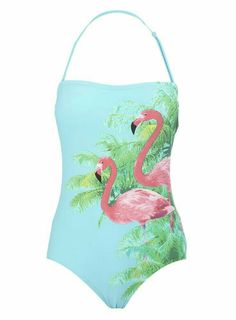 One-piece Flamingo Swimsuit Flamingo Outfit, Flamingo Beach, Flamingo Art, Pink Flamingos, Flamingo Gifts, Pink Bird, Swimming Costume, Fancy, Tropical