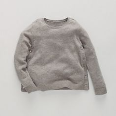 Button Side Sweater | The White Company