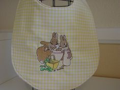 Peter+Rabbit+Beatrix+Potter+baby+bib+by+grandmasbabyboutique,+$6.50