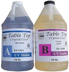 Amazon.com: Epoxy Crystal Clear Table Top Resin, 1:1, 1 Gallon Kit, Parts A & B Included: Industrial & Scientific