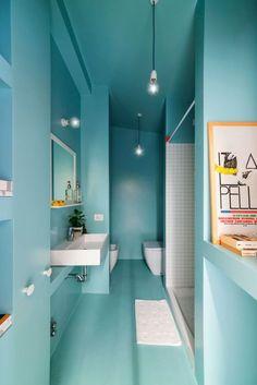 #bathroom #blue #bain #douche #bleu