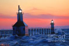 St. Joseph Pier Lighthouse by Michael Rucker
