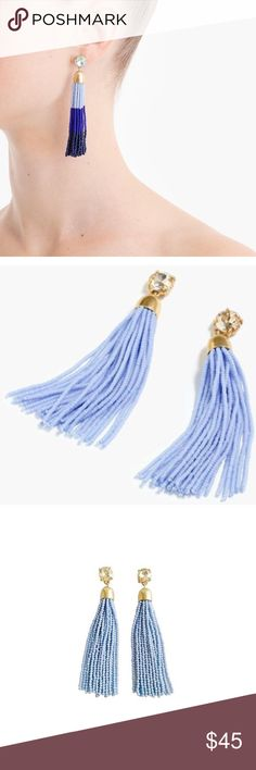 """⚡️FLASH SALE⚡️ new J. Crew beaded tassel earrings Brand new J. Crew gorgeous beaded tassel earrings // about 3 1/4"""" long PRODUCT DETAILS Tassel jewelry is kind of a thing right now... Let these (superlightweight!) earrings polish off all your off-the-shoulder tops and dresses for a fun look.  Brass, glass stones, glass seed beads. Light gold ox plating. J. Crew Jewelry Earrings"""