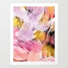 Abstract art, flowers, floral, landscape, nature, lilac, purple, pink, original, mixed media, modern contemporary, innovative. This artwork was created by Jennifer at Jenartanddesign using a photograph of flowers taken by Jennifer at Jenartanddesign, digital and graphic art media.