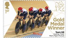 Ed Clancy, Geraint Thomas, Steven Burke and Peter Kennaugh of the GB team pursuit team