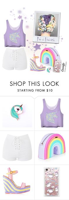 I'm a Unicorn by @savousepate on @polyvore #unicorn #colorful #rainbow #pastel