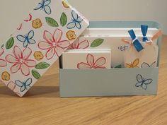 CraftyCarolineCreates: Stationary Set Tutorial using Garden in Bloom by Stampin' Up, Pootler's Blog Hop, Garden in Bloom