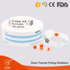 SK30 Anti-bacterial Soft Themal Paper Medical Wristbands #bracelet #medical #AIDE