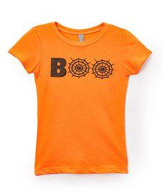 Orange 'Boo' Tee - Infant Toddler Kids & Adult