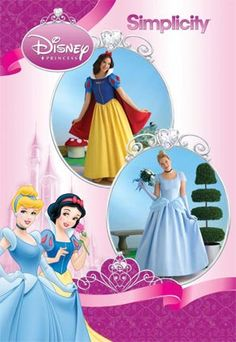 Simplicity Sewing Pattern 2813 Misses Costumes, RR Misses Snow White and Cinderella Disney Princess costumes Simplicity sewing pattern part of Simplicity Autumn 2008 collection. Pattern for 2 looks. For sizes RR Costume Halloween, Disney Princess Halloween Costumes, Halloween Costume Patterns, Disney Costumes, Costume Ideas, Pocahontas Costume, Deer Costume, Cowgirl Costume, Mermaid Costumes