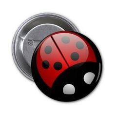 LadyBug Button http://www.zazzle.com/ladybug_button-145954108020919875?rf=238194283948490074&tc=pfz