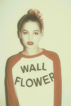 Pretty much defeats the purpose of being a wallflower but I love it. maybe just get a tattoo of it on me hidden