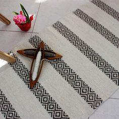White handwoven organic wool rug - handmade of pure eco-friendly wool , Scandinavian style rug in white and brown, striped rug Scandinavian Style, Striped Rug, Sheep Wool, Textiles, Handmade Rugs, Wool Rug, Hand Weaving, Tablet Weaving, Etsy
