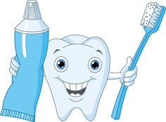 Royalty Free Clipart Image of a Tooth, Brush and Paste Free Clipart Images, Royalty Free Clipart, Coconut Oil Toothpaste, Tooth Cartoon, Health Heal, Cartoon Pics, Cartoon Picture, Funny Cartoons, Pictures Images