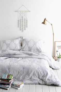 Pin for Later: Gray Bedroom Ideas —  Because Seriously, Who Doesn't Love Gray?  Urban Outfitters Plum & Bow Kylee Block Comforter ($129)