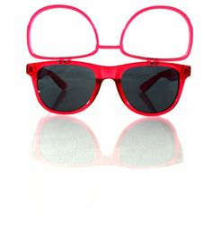 Transparent Red Sunglasses W/ Flip Up Diffraction Lenses - Wayfarer Inspired - Highest Quality Diffraction Effect available! The Rave Review LLC http://www.amazon.com/dp/B00KSSL35U/ref=cm_sw_r_pi_dp_PKmNtb0PAGSV5HVD