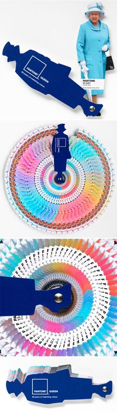 Queen Elizabeth pantone color wheel