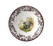 Spode Woodland American Wildlife Black Bear  Cereal Bowl Spode Woodland, Cereal Bowls, Black Bear, Decorative Plates, Wildlife, Dishes, American, American Black Bear, Tablewares