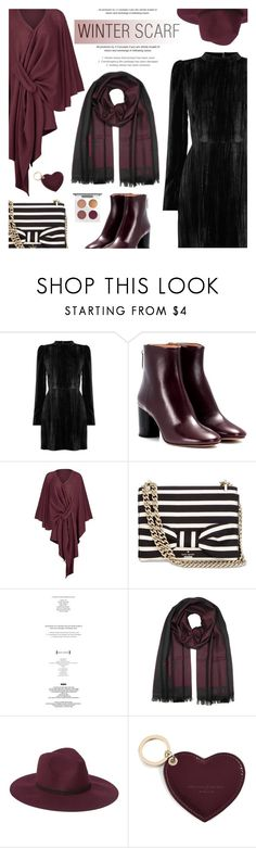 """Wrapper's Delight: Winter Scarf"" by beautifulplace ❤ liked on Polyvore featuring Warehouse, Isabel Marant, Kate Spade, StyleNanda, Versace, Aspinal of London, MAC Cosmetics and winterscarf"