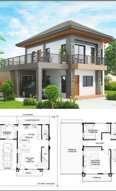 House Arch Design, Architect Design House, House Outside Design, 2 Storey House Design, Simple House Design, Bungalow House Design, Modern House Design, My House Plans, Modern House Plans