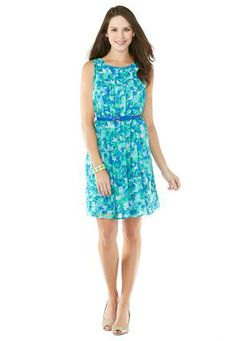 Cato Fashions Belted Sheer Dress - Plus #CatoFashions