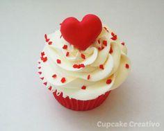 Cupcakes de Corazones (San Valentín) - Cupcake Creativo