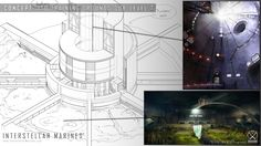 ITO underground training facility blueprint, cave and silo concept.