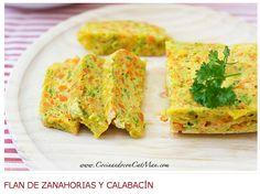 Flan de zanahorias y Calabacín del blog Cocinando con CatMan