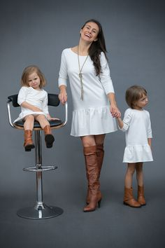 Me and mammy matching clothes - Ecru Dress with frill by The Same http://www.thesame.eu