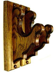 Oak Wooden Gun Rack Hangers Rifle Shotgun Old Style Wall Display Diy Pallet Projects, Wood Projects, Wooden Curtain Rods, Rifles, Traditional Curtains, Curtain Holder, Gun Storage, Drapery Hardware, Shotgun