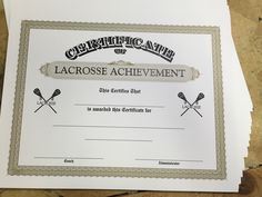 Lacrosse certificates templates just personalize print and lacrosse yelopaper Choice Image