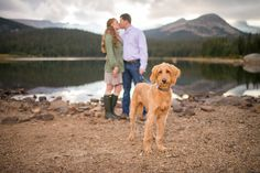 Colorado Mountain Lake Proposal with Dog Engagement Pictures