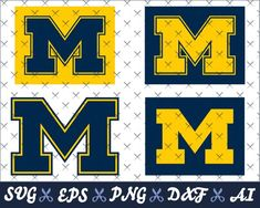 University of Michigan, Wolverines logos, designs for cricut, silhouette cameo, print and cut, in th