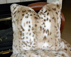 Wonderful Lynx Faux Fur Pillow Fake Fur by CindyHeitkampDesigns, $55.00