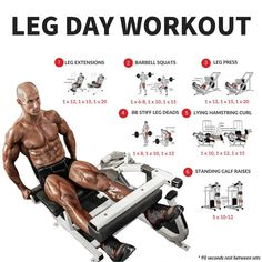 💥 Leg Day Workout 💥 ⠀⠀⠀⠀ Save this workout and give it a go. ⠀⠀⠀⠀ ✅ Leg Extensions - 1 x 1 x 1 x 3 second eccentric with a Leg Day Workouts, Ab Workout Men, Weight Training Workouts, Fit Board Workouts, Fun Workouts, Barbell Squat, Leg Training, Leg Press, Thing 1